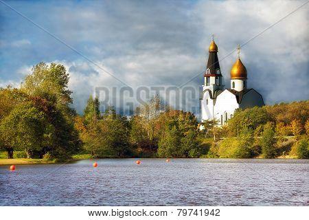Church In The Autumn