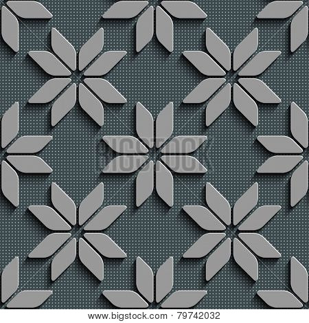 Seamless Star Pattern. Vector Background. Gray Regular Texture