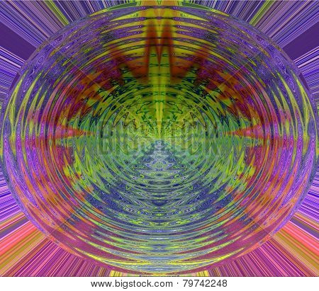 colorful blurred round abstract background