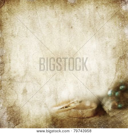 Vintage Wedding Background With Rings