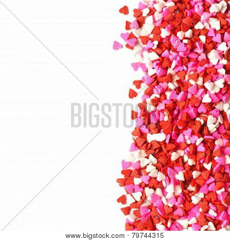 Valentines Day candy heart border