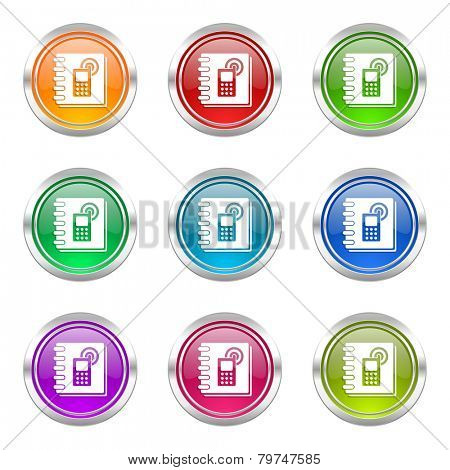 phonebook icons set