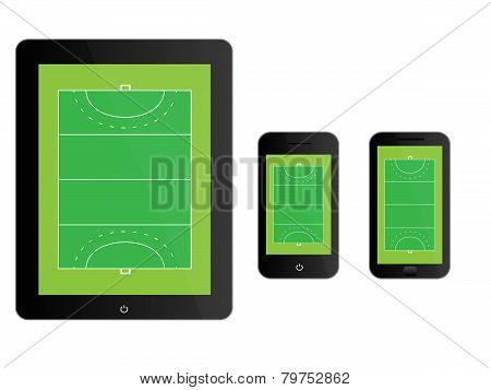 Mobile Devices With Hockey Field Black