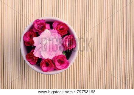 Artificial Roses In Bowl