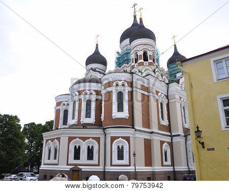 Russian Church from Krakow in Poland in a day of august 2014