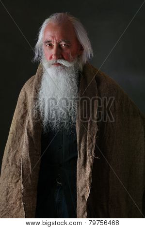 The old man in sackcloth