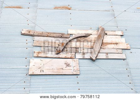 Collapsed Roofs Were Repaired By A Physician Through The Wood.