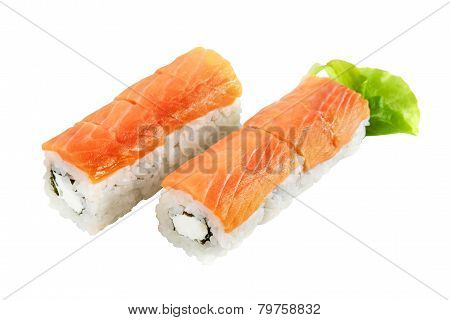 Philadelphia Roll With Salmon And Cream Cheese