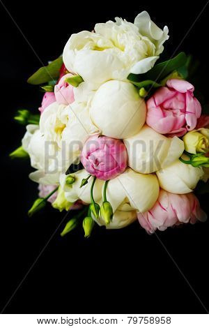Wedding Bouquet Of Ranunculus And Peony