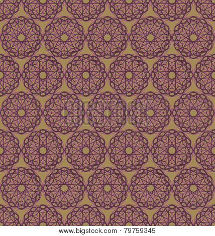 Abstract geometric spirographs pattern