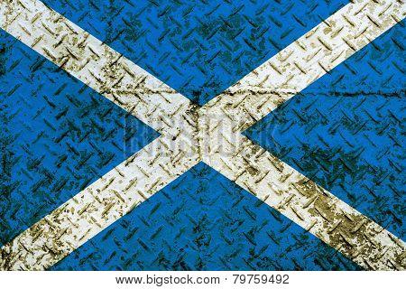 Scotland Flag painted on steel wall
