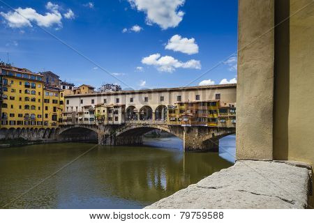 View Of Ponte Vecchio And River Arno
