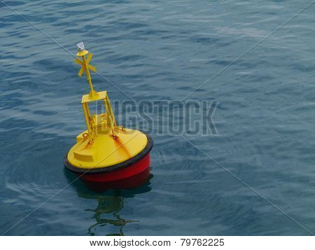 A yellow buoy in Croatia