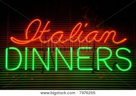 Italian Dinner Neon Sign