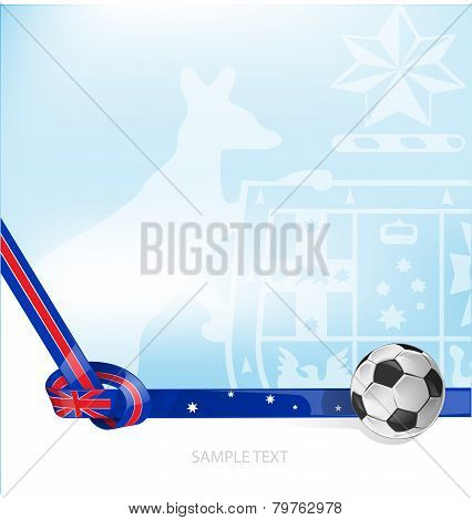 Australian Flag Background Soccer Ball