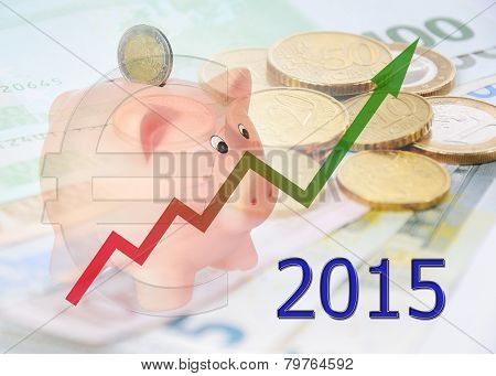 Piggy Bank 2015 With Diagram And Euro Symbol