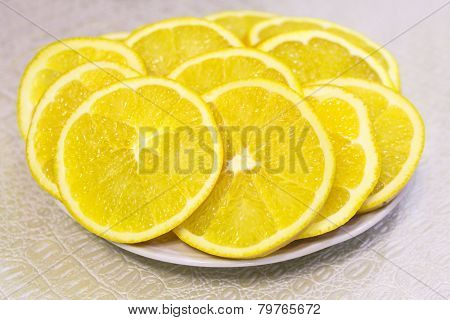 Orange Slices On A Plate