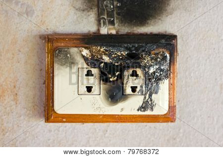 Burned Plug Socket.