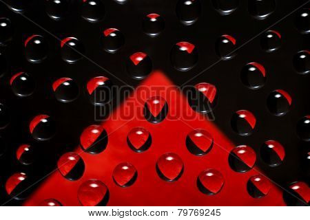 Abstract Background  With Reflections Black And Red Colors