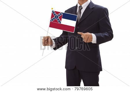 Businessman with Mississippi Flag