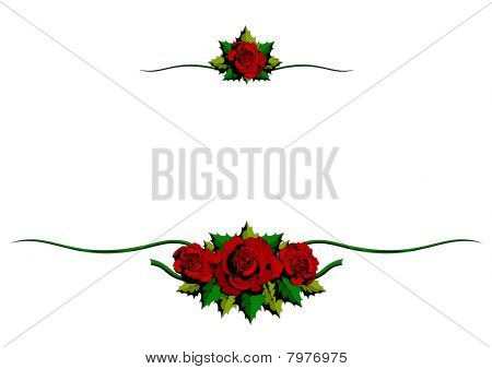 Red Rose cartoon ornaments