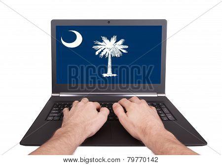 Hands Working On Laptop, South Carolina