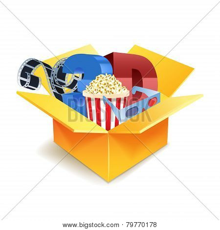 Popcorn box, disposable cup for beverages