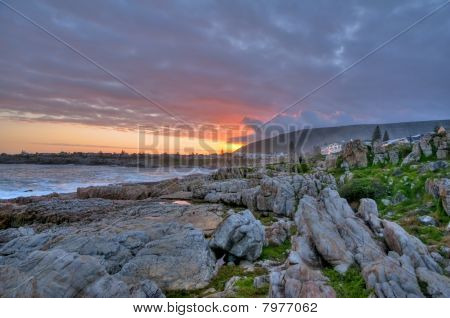 Sunset over Hermanus Bay - South Africa