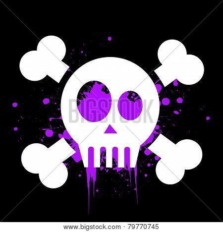 vector skull with crossed bones