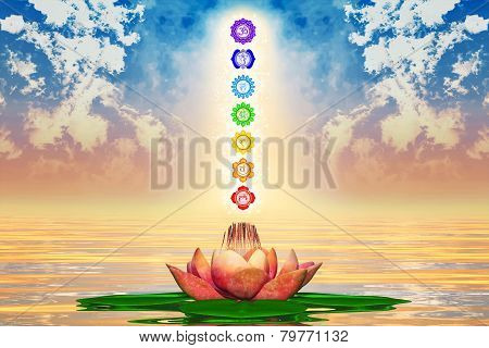 Sacred Lotus And Chakras