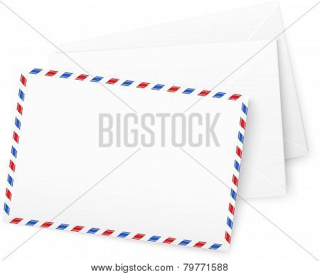 White vector paper envelops