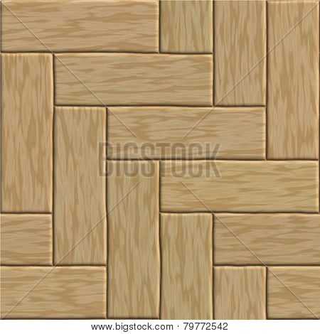 Seamless wooden striped fiber textured background. Vector.