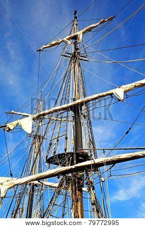 Ship rigging detail.