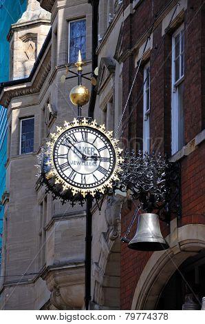 Bakers Jewellers clock, Gloucester.