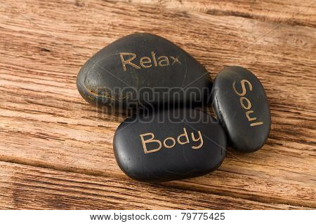 Relax, Soul, Body Three Lava Stones