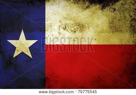 Grunge Texas state Flag.