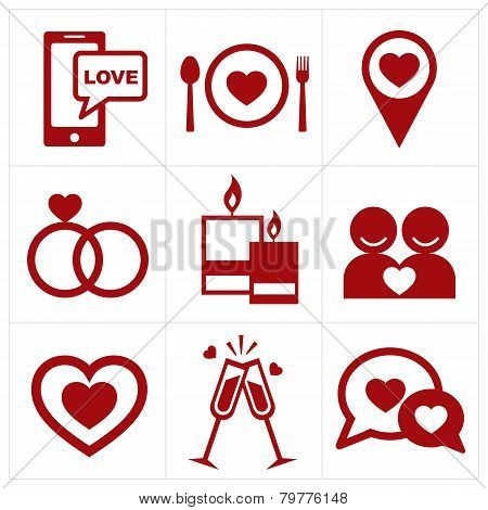 Valentines Icon Set
