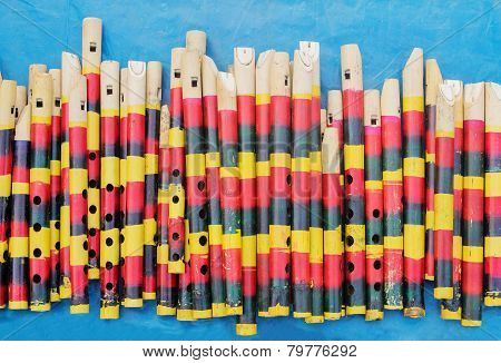 Flutes Made Of Bamboo,  Indian Handicrafts Fair At Kolkata
