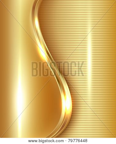 Abstract gold background, vector illustration.