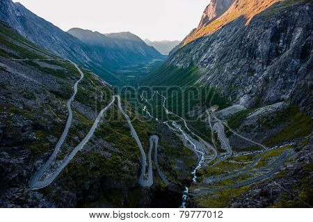 Trollstigen - mountain road in Norway
