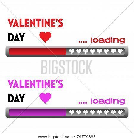 Valentine loading bars