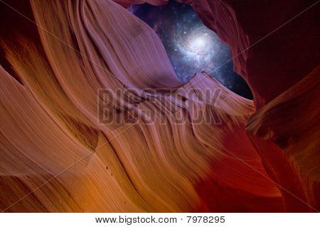 Desert Canyon Night