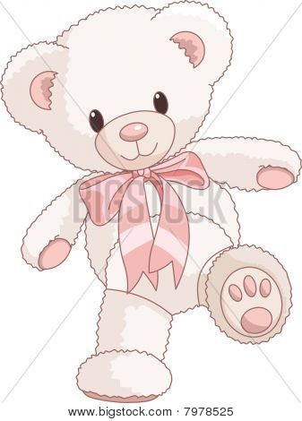 Cute teddy bear walking