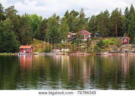 Idyllic village in Stockholm archipelago.