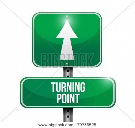 Turning Point Road Sign Illustration Design