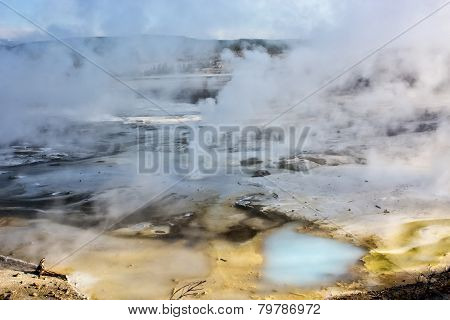 Geyser Basin in Yellowstone Park