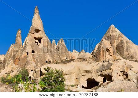 Cappadocia, fairy chimneys in Goreme national park, Turkey.