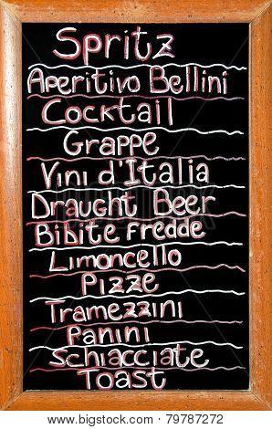 Venetian Bar Sign