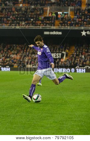 VALENCIA, SPAIN - JANUARY 4: Alvarez during Spanish King Cup match between Valencia CF and RCD Espanyol at Mestalla Stadium on January 4, 2015 in Valencia, Spain