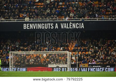 VALENCIA, SPAIN - JANUARY 4: Mestalla Stadium during Spanish King Cup match between Valencia CF and RCD Espanyol at Mestalla Stadium on January 4, 2015 in Valencia, Spain